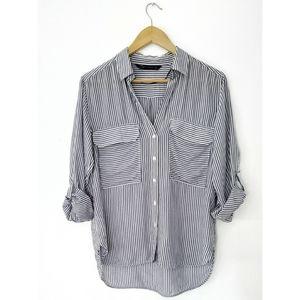 Zara Blue & White Striped Top | Summer Style